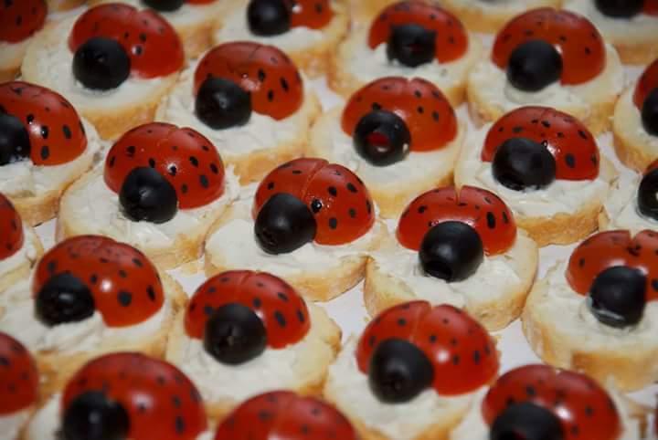 Coccinelle pomodori e olive