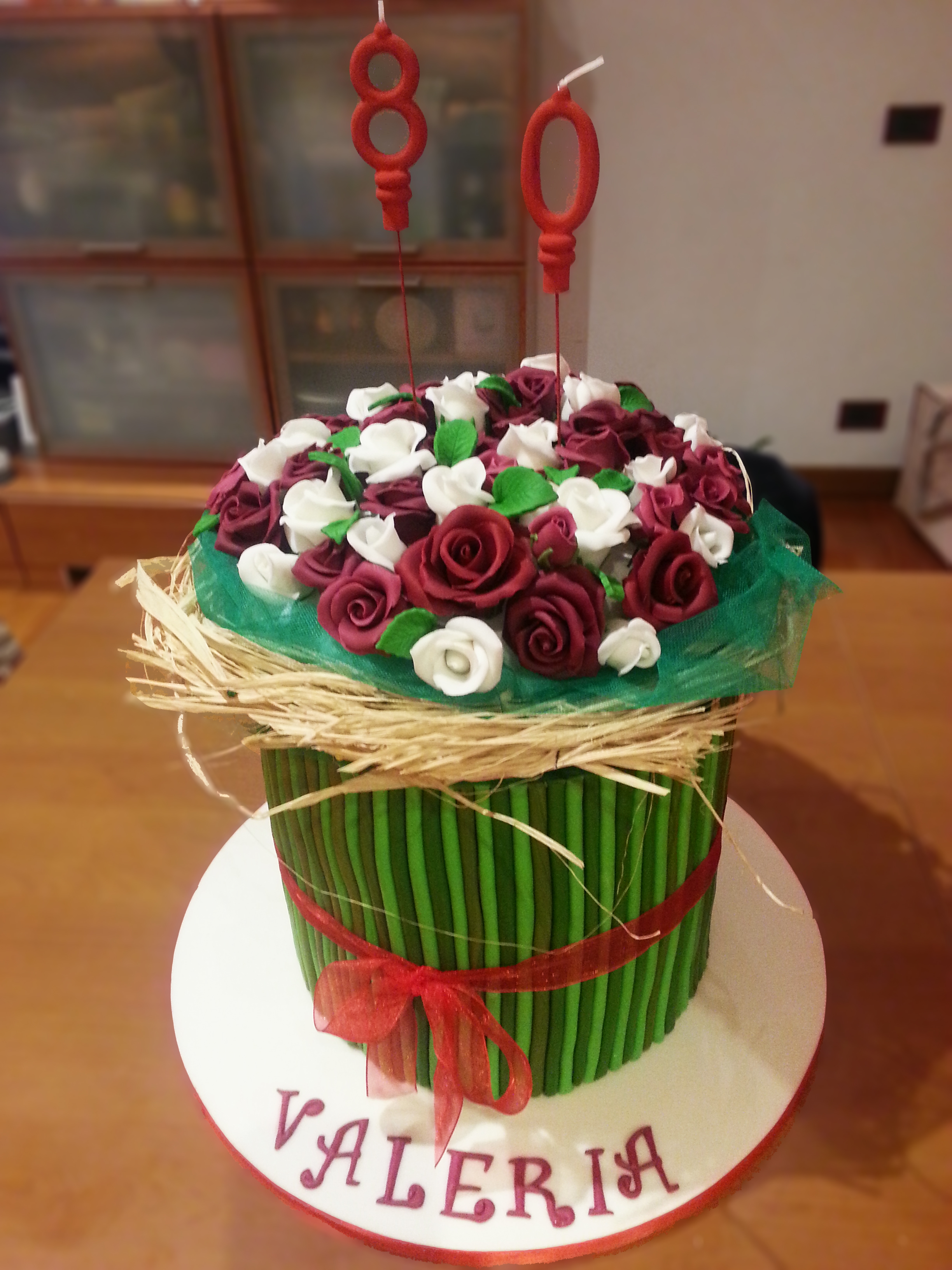 Torta bouquet di rose