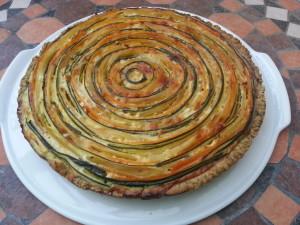 Torta arcobaleno di verdure