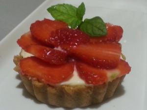 Crostatine di fragole senza cottura