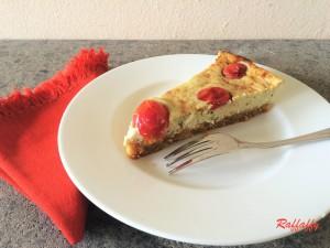 Cheesecake salato al pesto e pomodorini