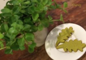 foglioline di frolla al tè matcha