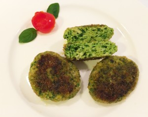 nuggets di pollo agli spinaci