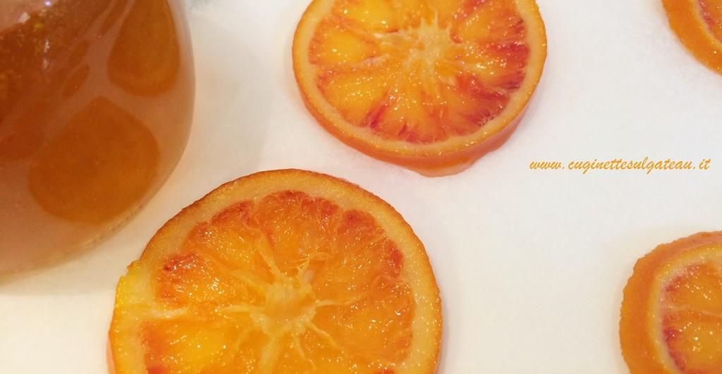 arance caramellate e sciroppate