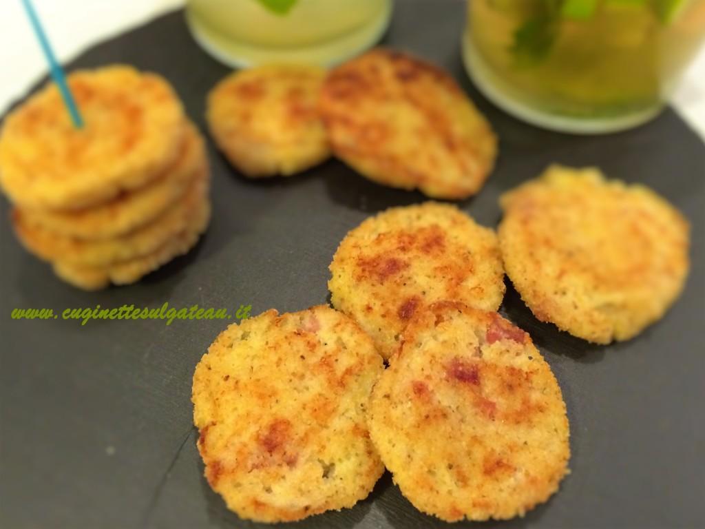 polpettine di ricotta, prosciutto e patate