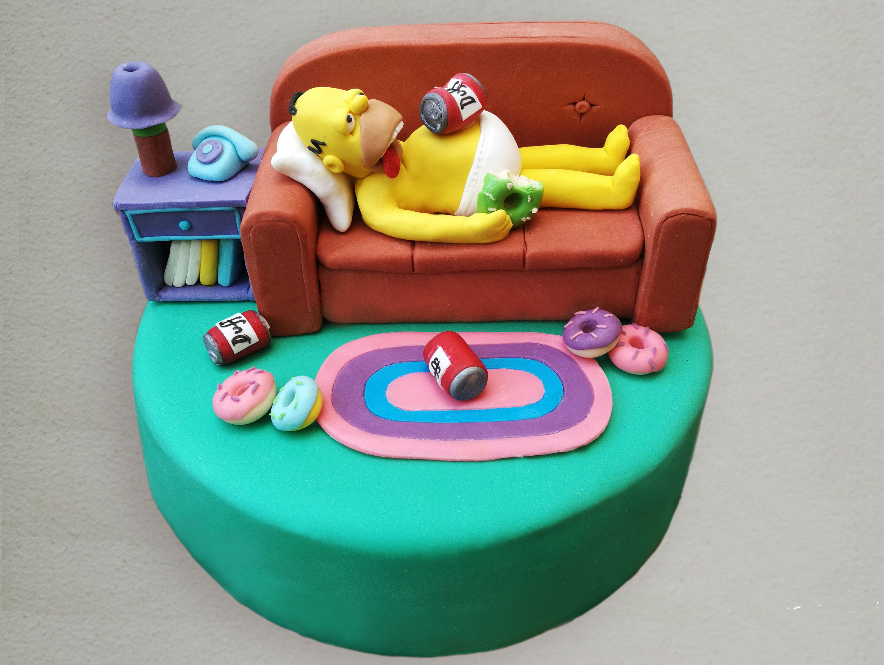 torta homer simpson cuginette sul g teau