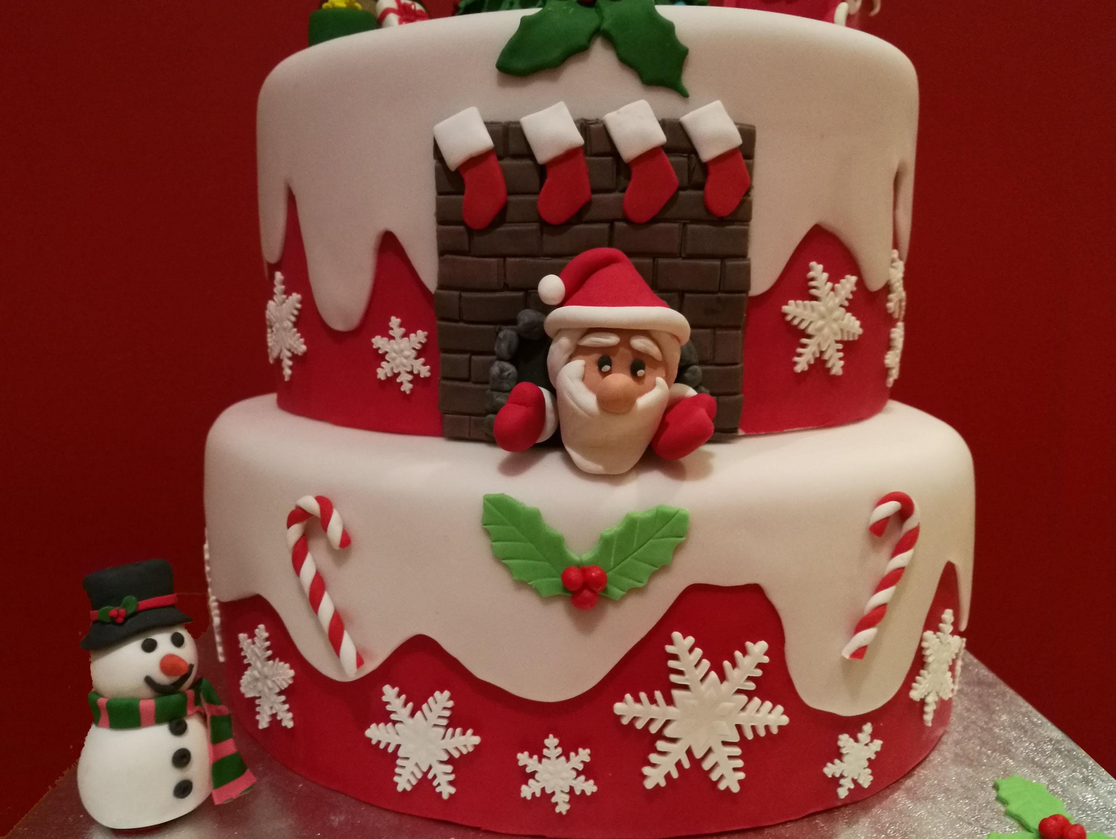 Torte Decorate Per Natale torta di natale | cuginette sul gâteau