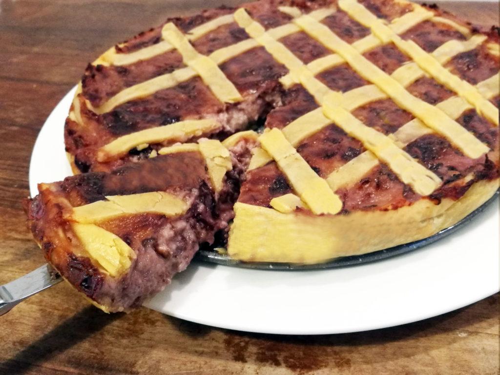 Crostata radicchio e gruyère
