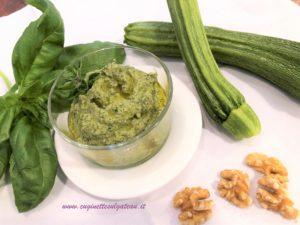 Pesto di zucchine e noci